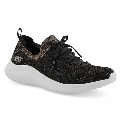 Espadrille Ultra Flex 2.0, noir/or, fem.