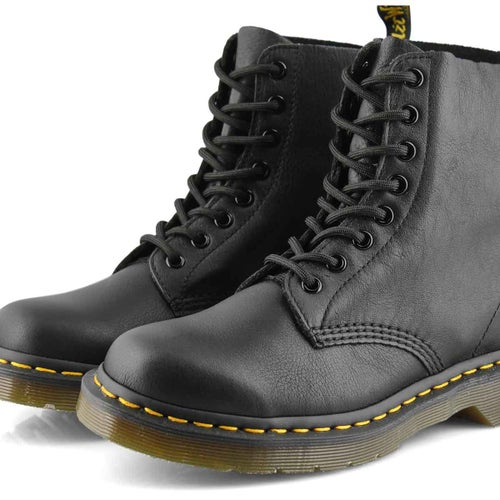Lds Pascal 8-Eye black soft leather boot