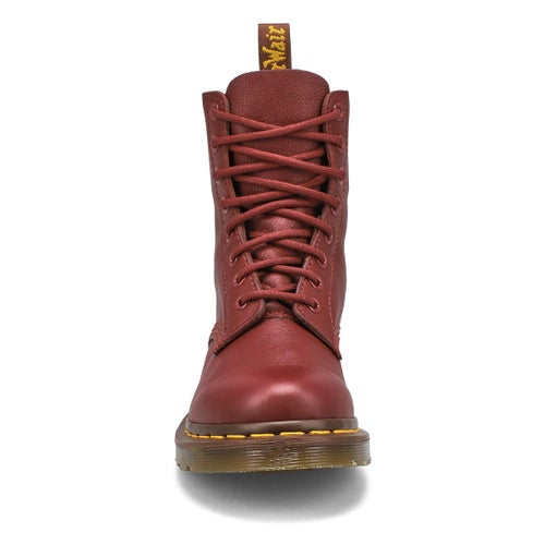 Lds Pascal 8-Eye red soft leather boot