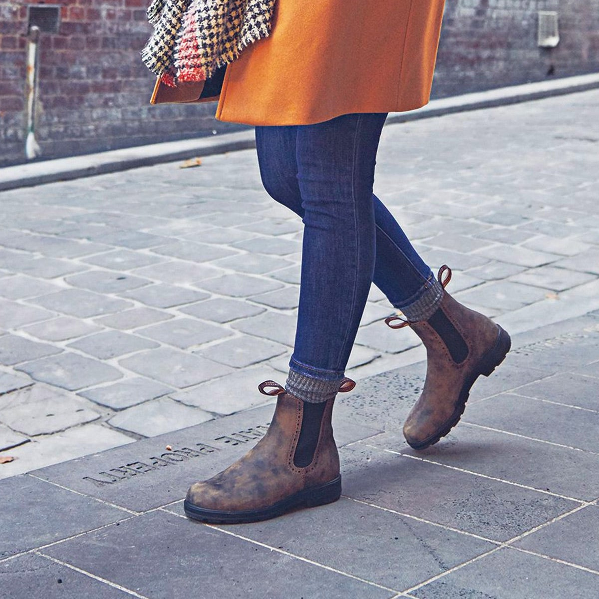 Bottes Chelsea GIRLFRIEND, brun rustique, femmes