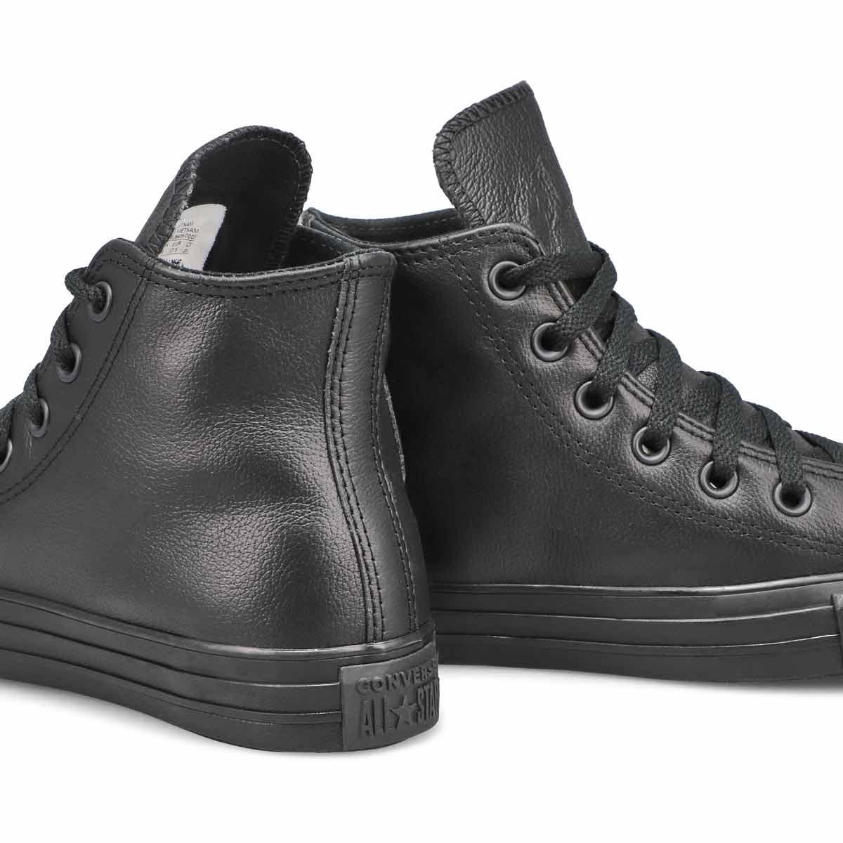 Women's All Star Leather Hi Top Sneaker - Black