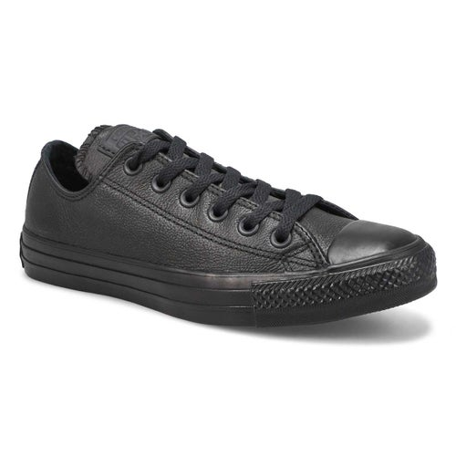 Lds CTAS Leather Ox blk mono snkr