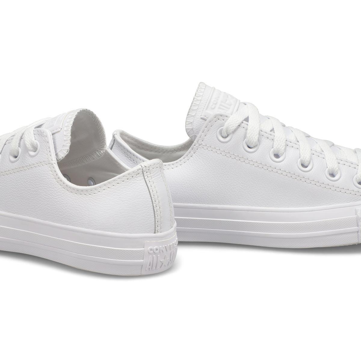Women's All Star Leather Hi Top Sneaker -Wht