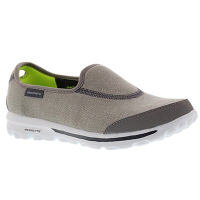 Skechers Women's GOwalk IMPRESS grey slip-ons