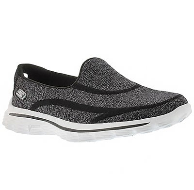 Skechers Women's GOwalk SUPER SOCK black/white slip-ons