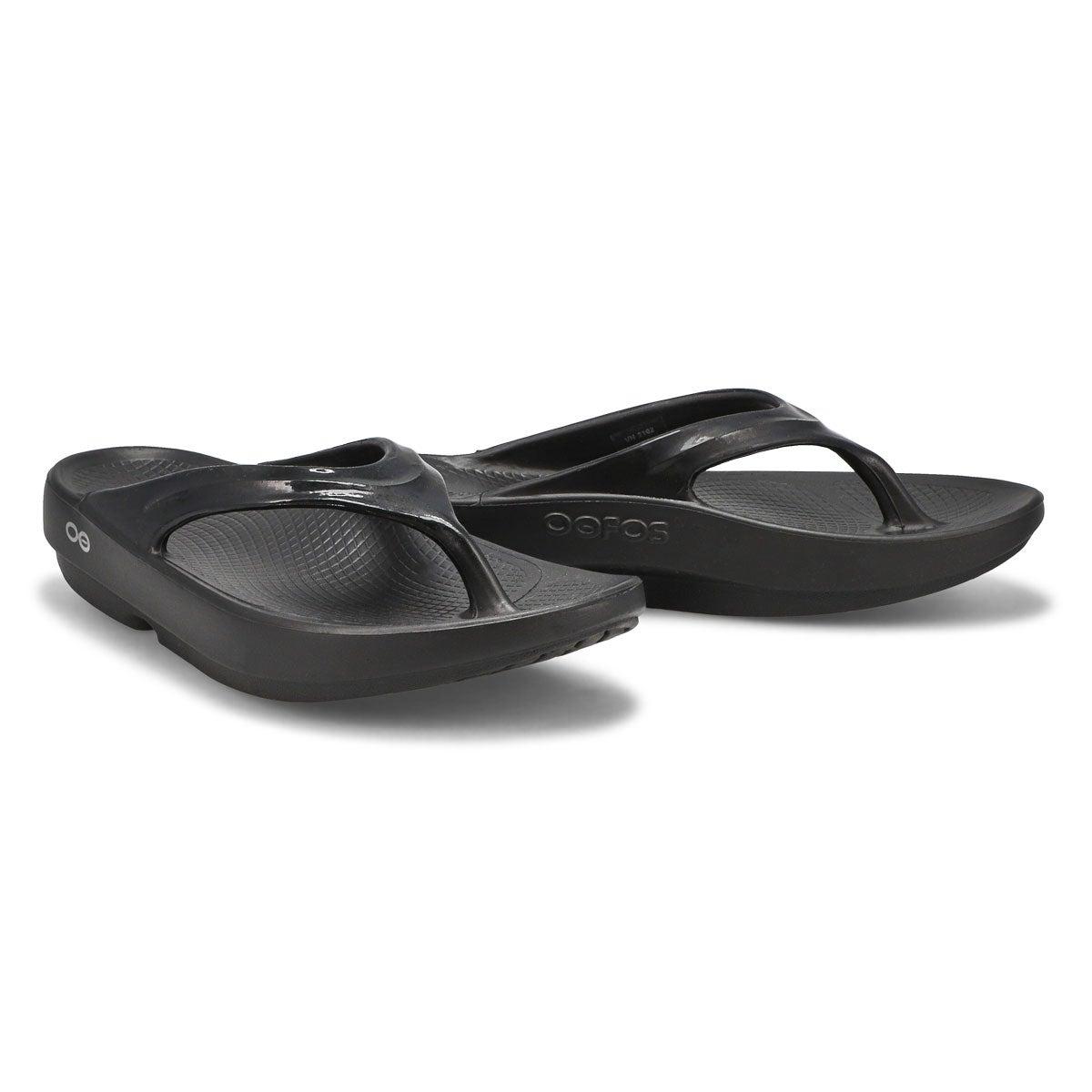Women's Oolala Thong Sandal - Black/Black