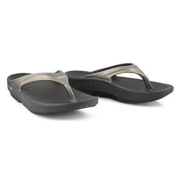 Women's OOLALA black/latte thong sandals