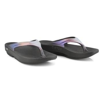 Women's Oolala Luxe Thong Sandal - Black/Calypso