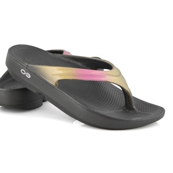 Women's Oolala Luxe Thong Sandal - Black/Rose Gold