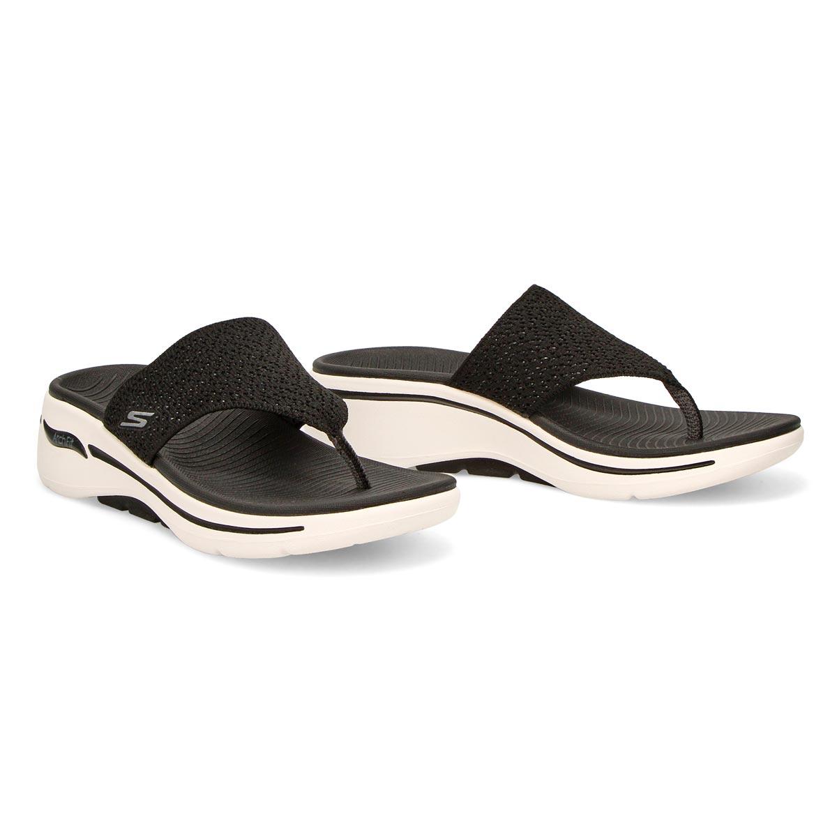Women's Go Walk Arch Fit Sandal - Black/White