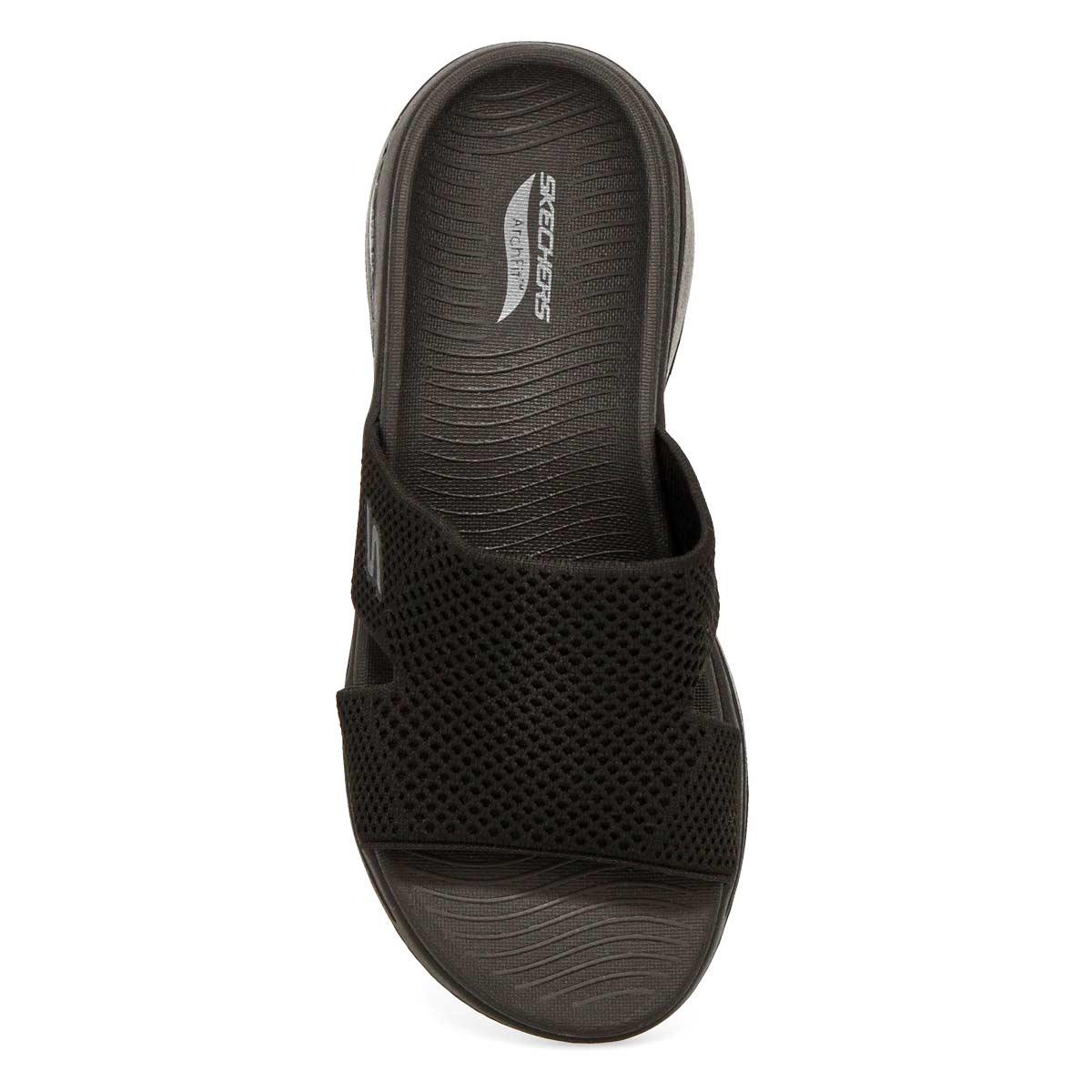 Women's Go Walk Arch Fit Sandal - Black/Black