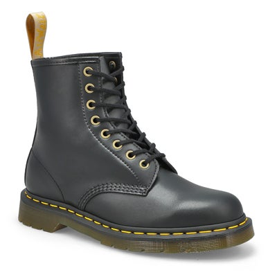 Dr Martens Women's VEGAN 1460 8-Eye black smooth boots