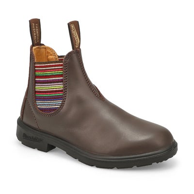 Kids' BLUNNIES brown multi twin gore boots