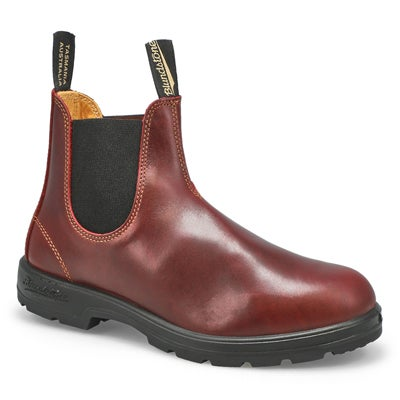 Unisex Lthr Lined redwood pull on boot