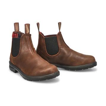 Kids' BLUNNIES antique brown twin gore boots