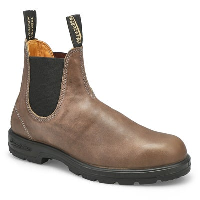 Unisex Lthr Lined grey twin gore boot