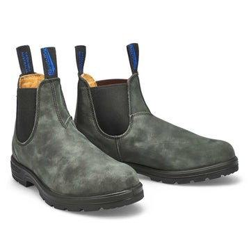 Unisex THE WINTER rustic black lined boots
