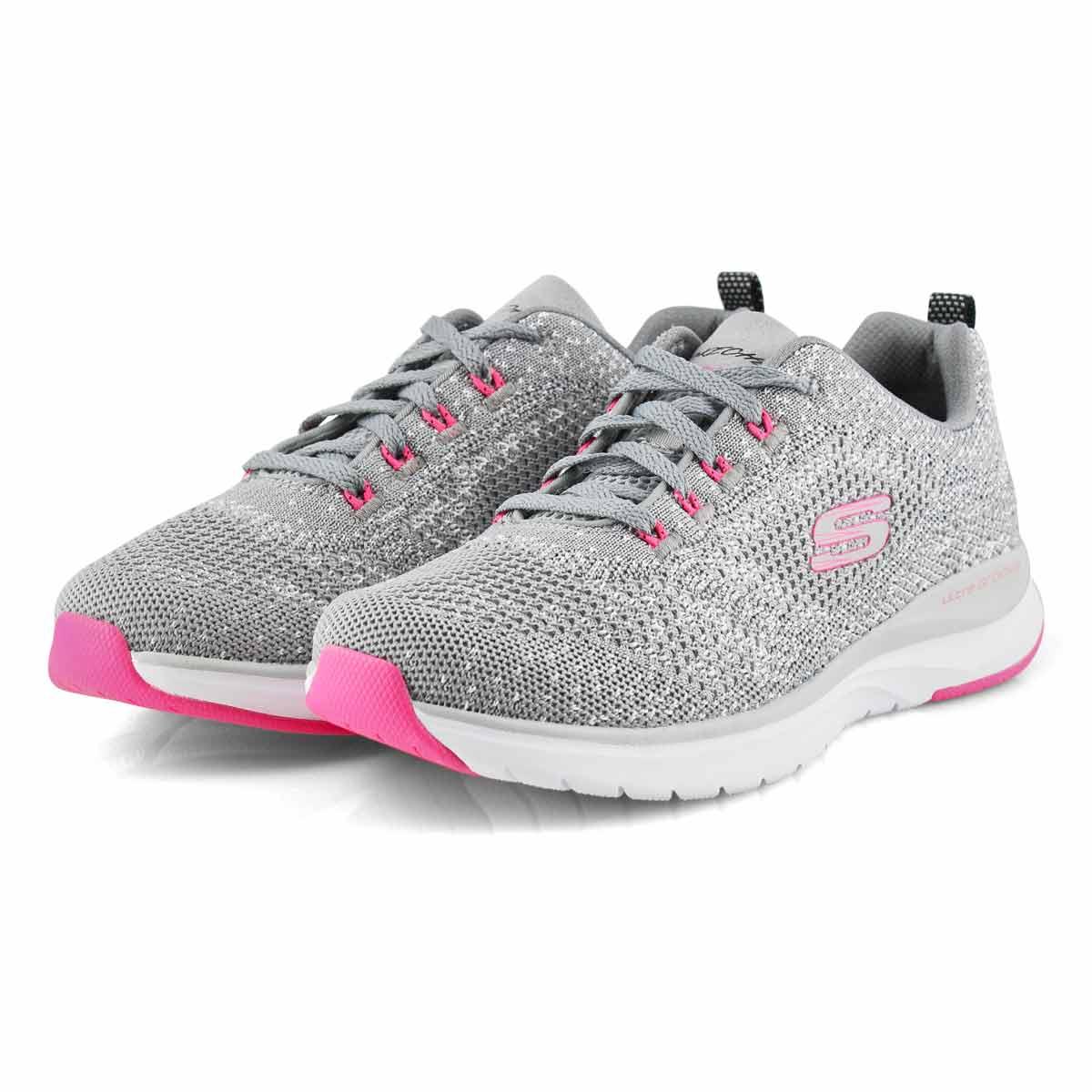 Women's Ultra Groove Sneaker - Grey/Pink