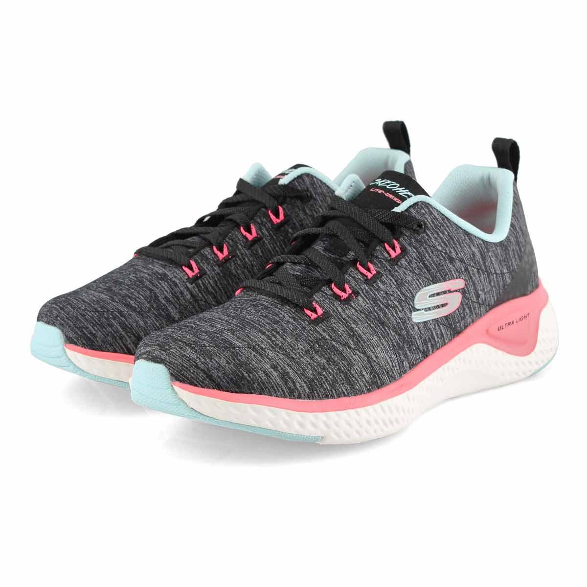 Lds Solar Fuse blk/mlti sneaker