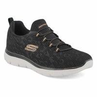 Women's Summits Sneaker - Black/Rose Gold