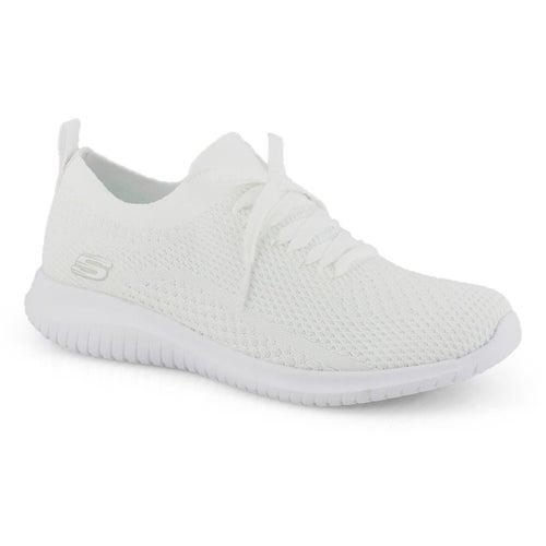 Lds Ultra Flex white slip on sneaker