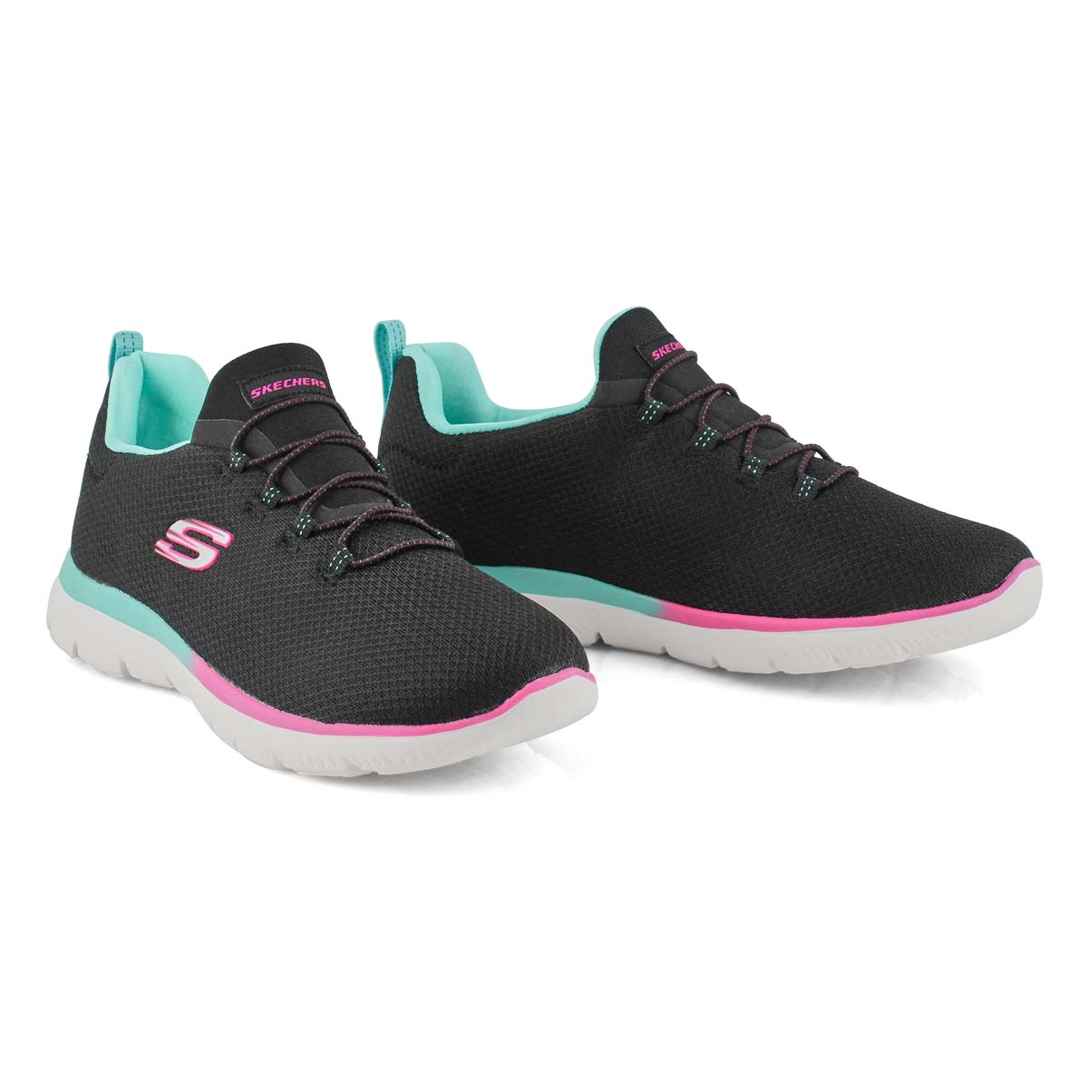 Women's Summits Sneaker - Black/Blue/Pink