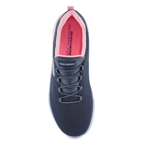 Lds Summits nvy/pnk slip on sneaker