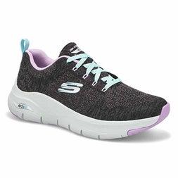 Lds Arch Fit Comfy Wave blk/lav sneaker