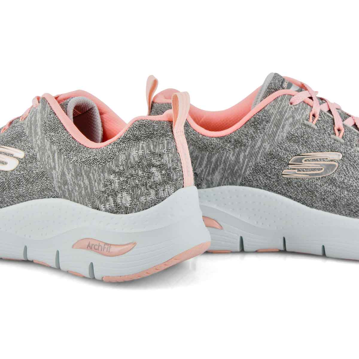 Espadrille ARCH FIT COMFY WAVE gris/rose femmes