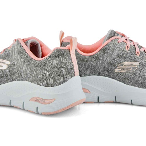 Lds Arch Fit Comfy Wave gry/pink sneaker