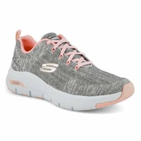 Women's Arch Fit Comfy Wave Sneaker - Grey/Pink