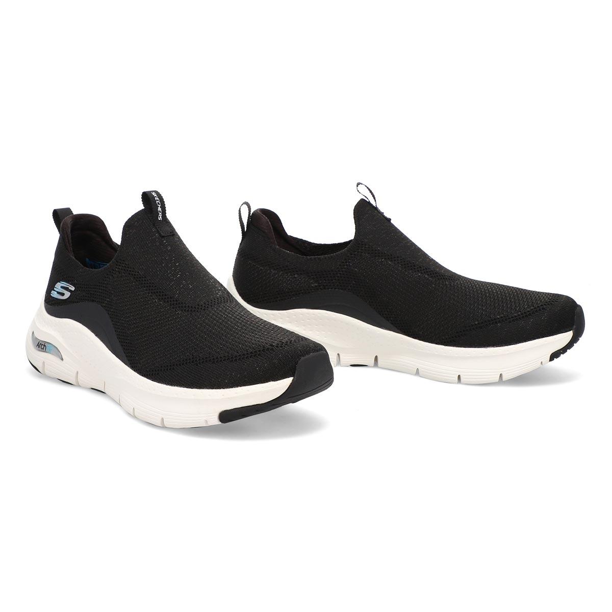 Women's Arch Fit Sneaker - Black/White