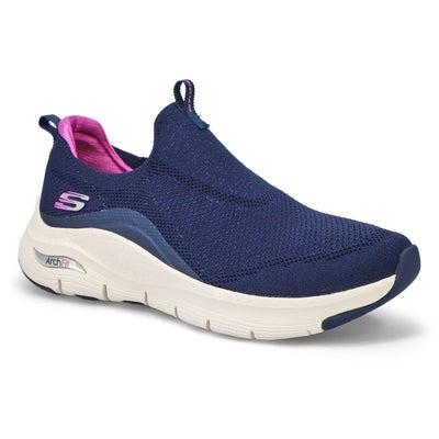 Lds Arch Fit Slip On Sneaker - Navy/Purp