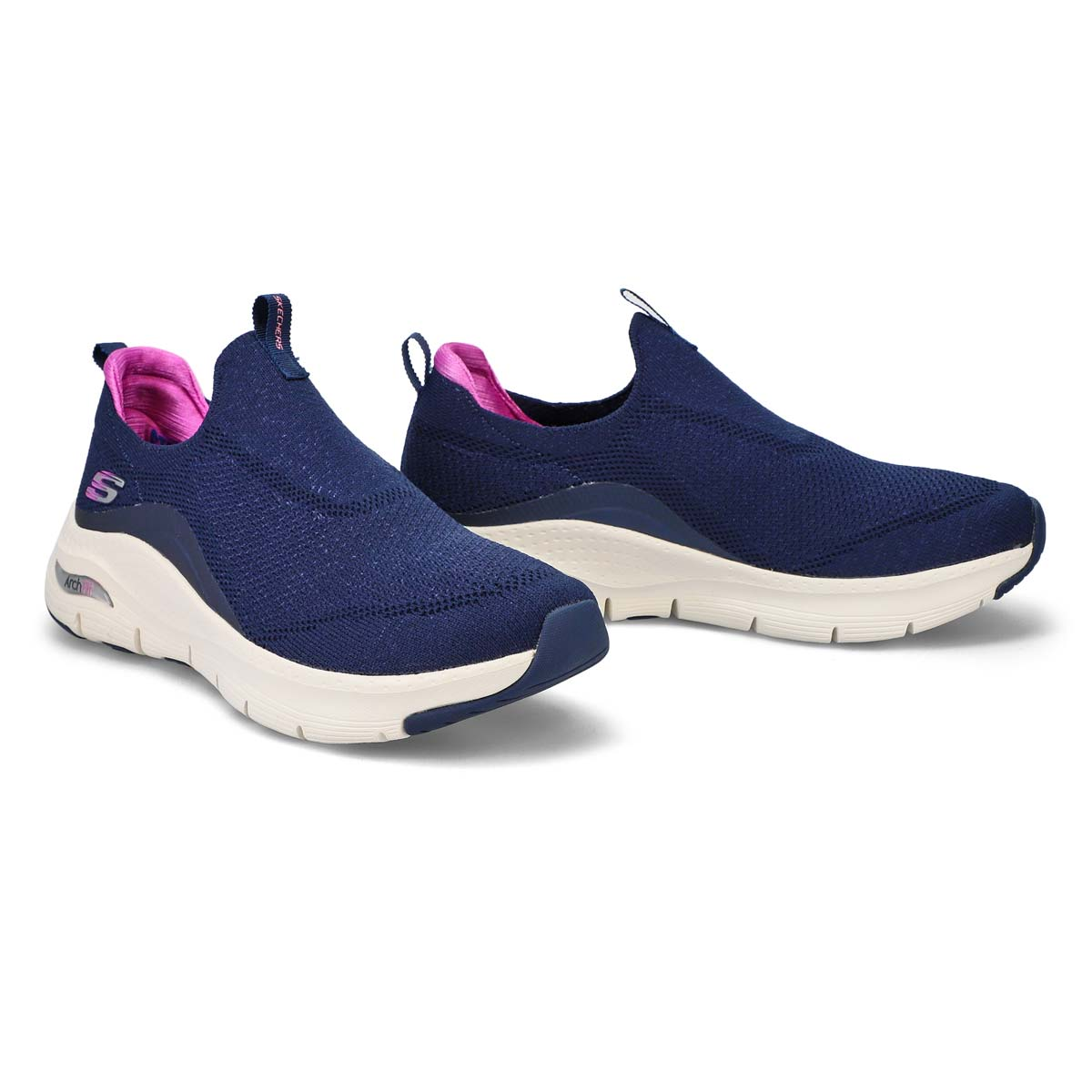 Womens' Arch Fit casual sneaker - navy/purple