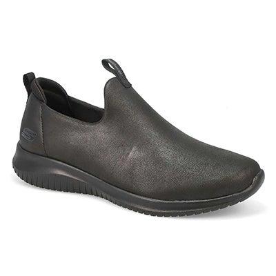 Lds Ultra Flex Slip On Sneaker- Black