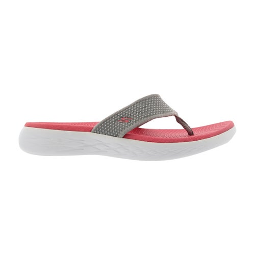 Lds On-The-Go 600 gry/pnk flip flop sndl