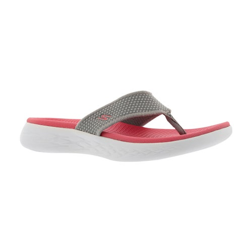 Tong On-The-Go 600, gris/rose, fem