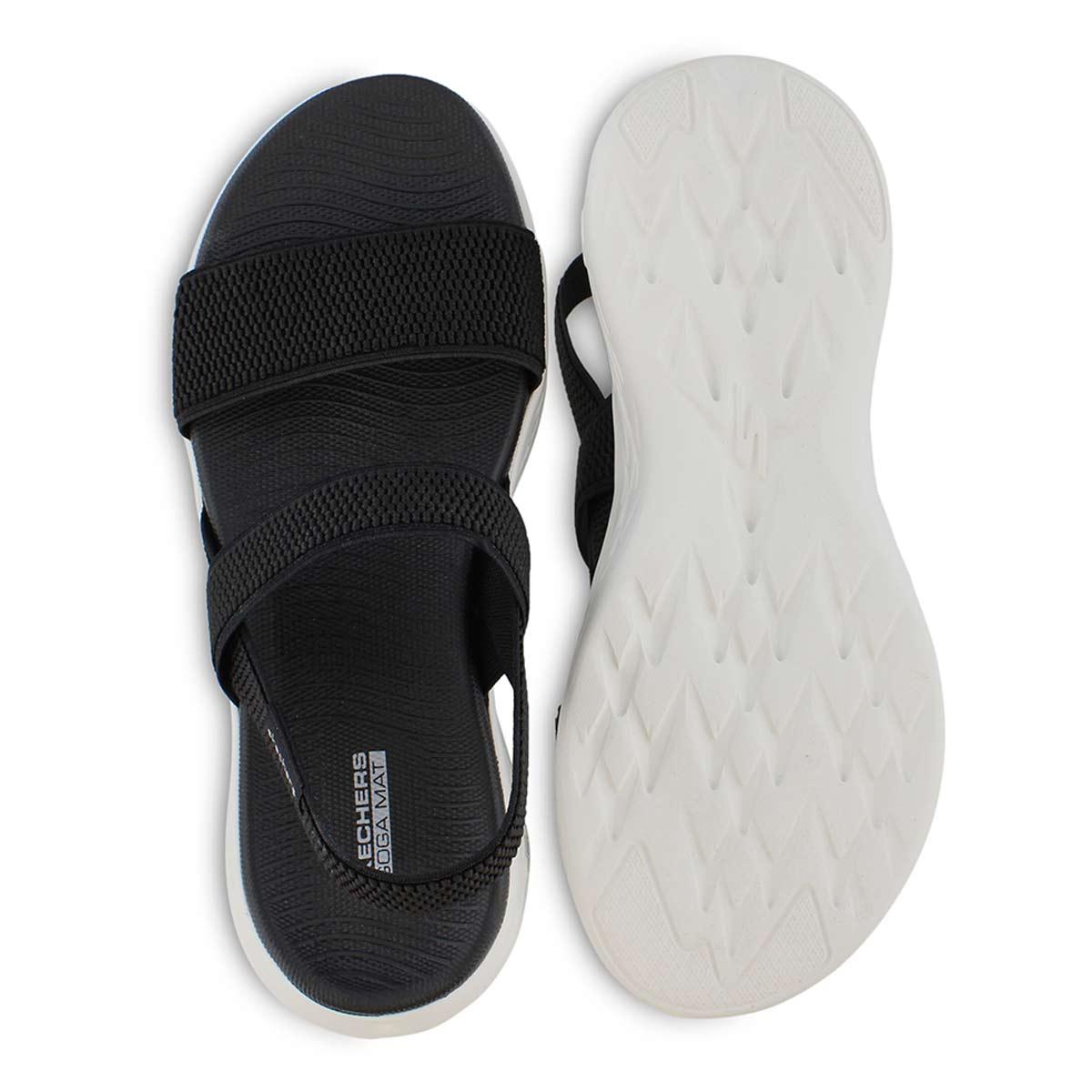 Sandales sport, ON-THE-GO 600, noir/blanc, femmes