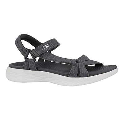 Women's ON THE GO 600 BRILLIANCY grey sandals