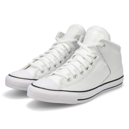 Mns CTAS High Street Leather wht hi top
