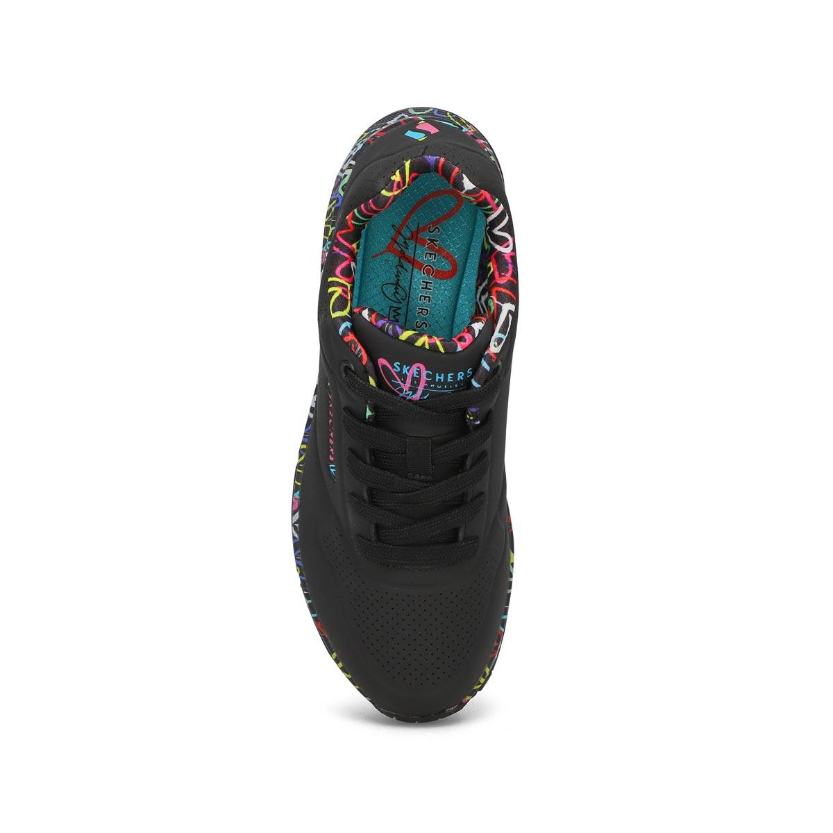 Women's UNO LOVING LOVE black fashion sneakers