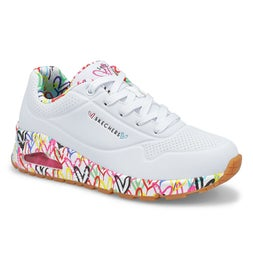 Lds Uno Loving Love wht fashion sneaker