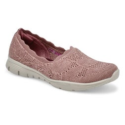 Lds Seager Bases Covered mauve slip on