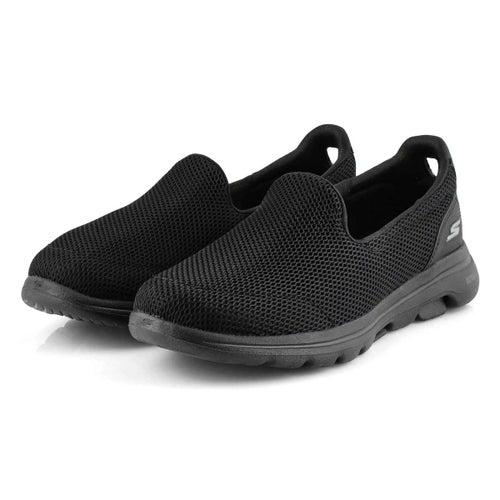 Lds GOwalk 5 blk/blk slip on shoe