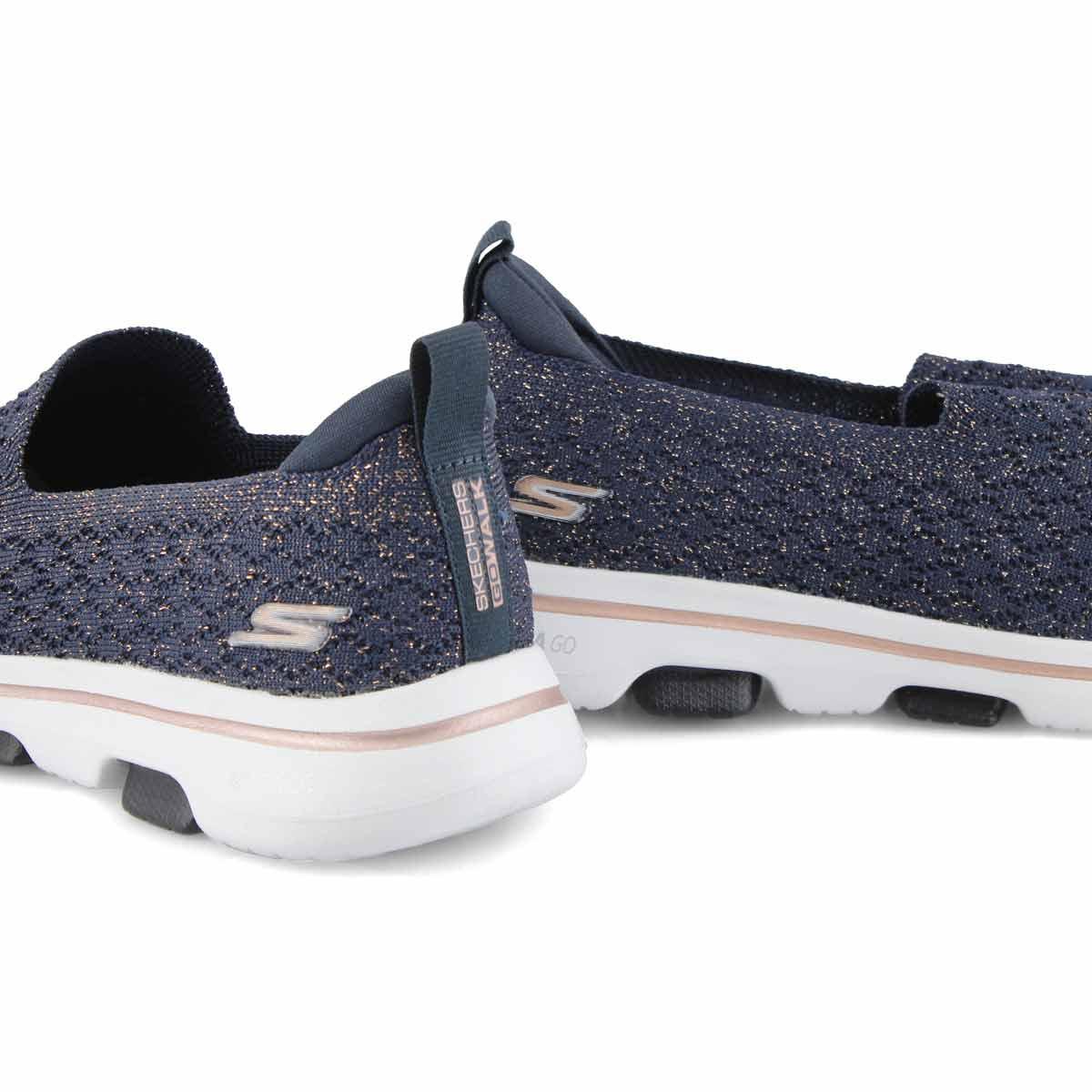 Women's Go Walk 5 Brave Shoe - Navy