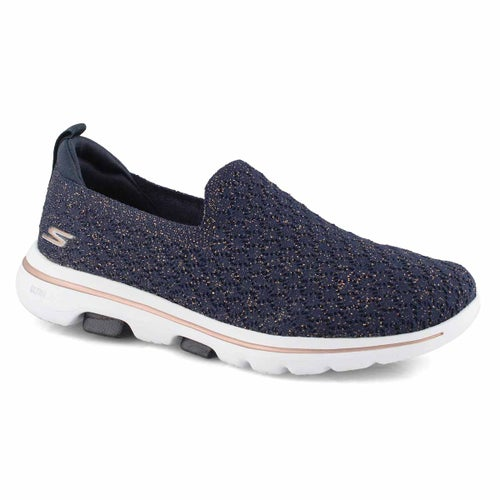 Lds GOwalk 5 Brave navy slip on shoe