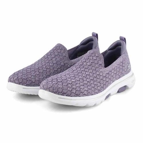 Lds GOwalk 5 Brave purple slip on shoe
