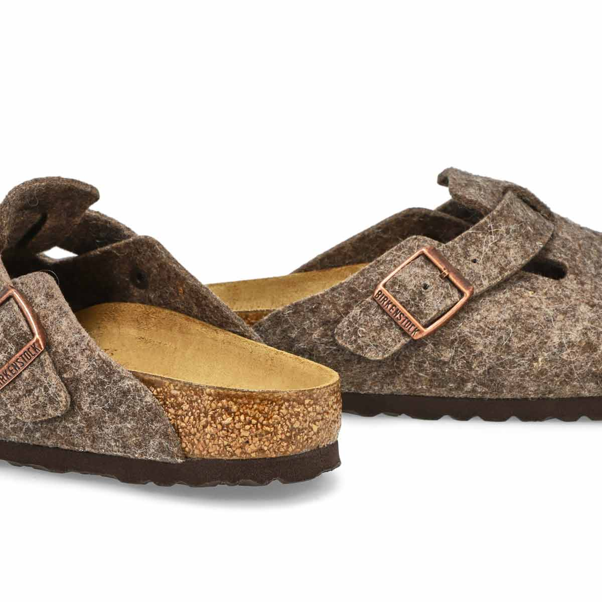 Women's BOSTON cocoa wool clogs - Narrow