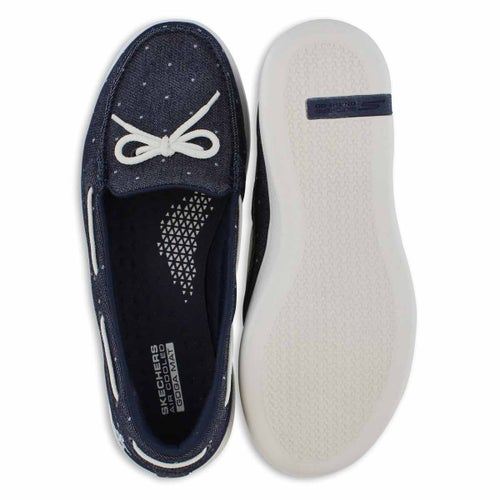 Lds Glide Ultra denim dot boat shoe