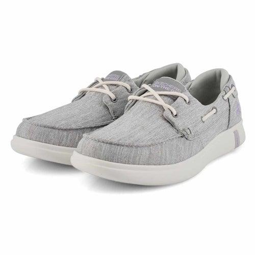 Lds Glide Ultra Waves grey boat shoe